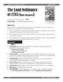 Land Ordinance of 1785 Teacher Guide