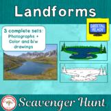 Landform Scavenger Hunt with bonus matrix