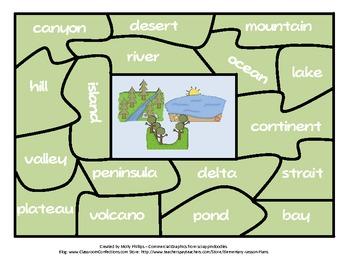 Landforms Puzzle Center Activity