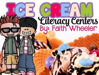 Language Arts - Ice Cream Literacy Centers