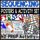 SEQUENCING ACTIVITY and POSTER SET using TIME ORDER WORDS