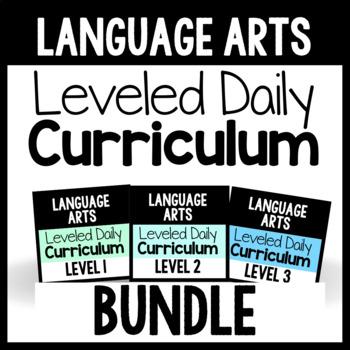 Language Arts Leveled Daily Curriculum {BUNDLE}