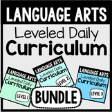 Language Arts Leveled Daily Curriculum {BUNDLE}