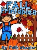 Language Arts & Math - Fall Printables