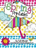Language Arts & Math - Spring Printables