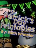 Language Arts & Math - St. Patrick's Day Printables