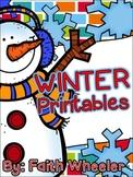 Language Arts & Math - Winter Printables