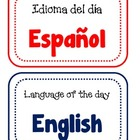 Language of the day sign.