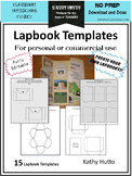 Lapbook Templates for personal or commercial use