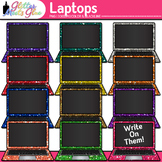 Laptop Computers Clip Art Dipped in Glitter