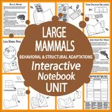Animal Adaptations-Interactive Notebook Bundle-Large Mammals