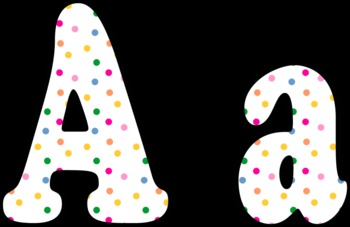 Large Polka Dot Letters A to Z