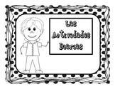 Las Actividades Diarias Letreros y Hojas de Actividades