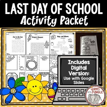Last Day of School Activity Packet