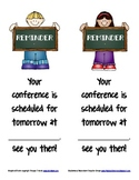 Last Minute Conference Reminder