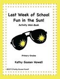 Last Week Of School Fun in the Sun! Activity Mini-Book