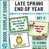 Display Signage for the School Library...Late Spring/Summe