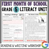 Launching the Reader's & Writer's Workshops: Grade 5...40