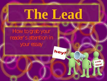 Lead and Hook Sentences in an Essay Powerpoint