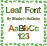 Leaf Font Clip Art