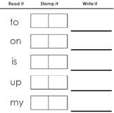 Learn Sight Words: Read it. Stamp it. Write it.