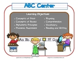 Learning Center Signs- Additional Signs for Preschool