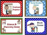 Learning Center Signs and Labels