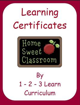 Learning Certificates