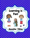Learning is Fun! Literacy Unit and Literacy Centers