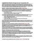 Legislative Bill to Law Project