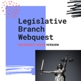 Legislative Branch Webquest