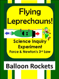 St. Patrick's Day Leprechaun Science Inquiry force experim