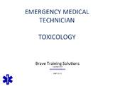 EMT/EMR LESSON ON TOXICOLOGY POWERPOINT TRAINING PRESENTATION