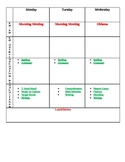 Lesson Plan Layout w/ Journeys RLA specifics