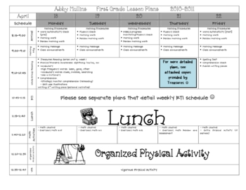 Lesson Plan Template {Pre-K & Elementary}