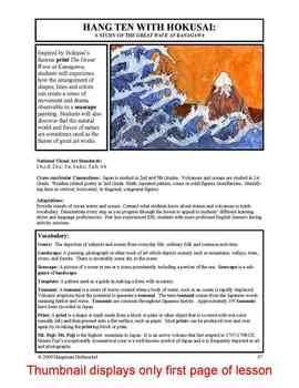 "Lesson plan.  Hokusai:  A Study of ""The Great Wave at Kanagawa"""