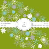 Snowflake Clipart - Let It Snow