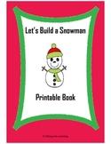 Let's Build a Snowman Printable Book