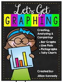 Let's Get Graphing! {Bar Graphs, Line Plots, Pictographs a