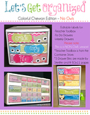 Let's Get Organized {Colorful Chevron Edition - No Clip Ar