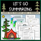 Writing a Summary Common Core PPT + Worksheet Bundle - Cam