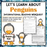 Let's Learn About Penguins Internet Scavenger Hunt Activity
