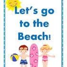 Let's go to the Beach! Money File Folder Game
