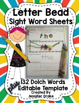 Letter Beads: Sight Words Set