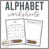 Letter Identification Worksheet Pack