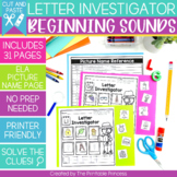 Letter Investigator {Beginning Sounds Cut and Paste Practi