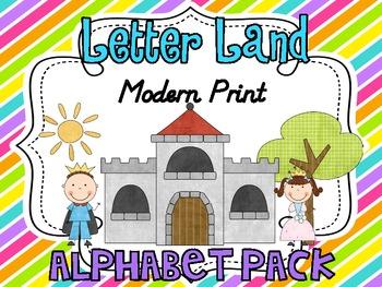 Letter Land Alphabet Pack Polka Dot Modern Print