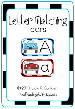 Letter Matching Cars
