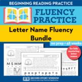 Letter Name Fluency Homework or Intervention Bundle (48 Weeks)