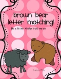 Letter Naming Brown Bear theme